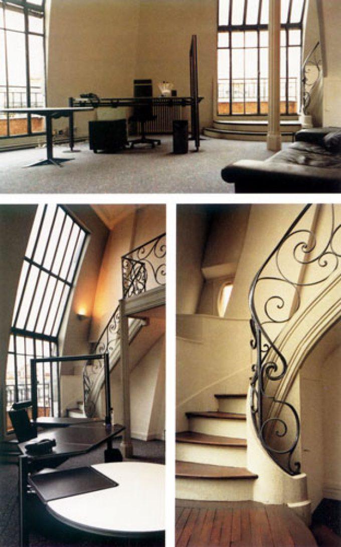 Escalier d'un appartement sur Paris