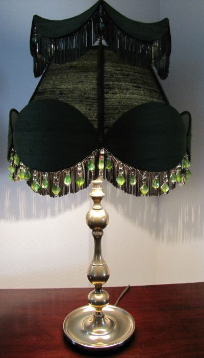 Lampe victorienne en laiton