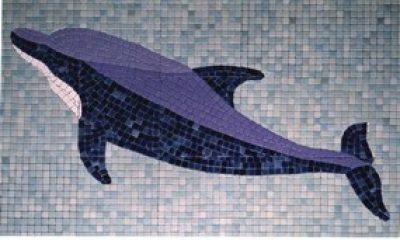 Décor piscine : le Dauphin Oscar